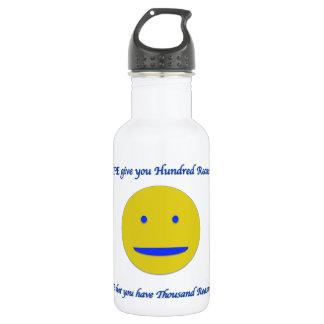 Sourire à la vie bouteille d'eau en acier inoxydable