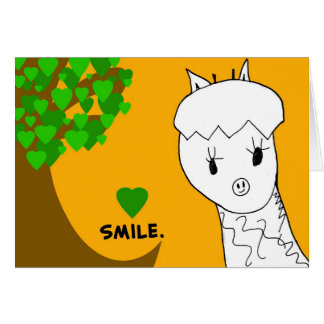 Sourire ! Carte pour notes de girafe
