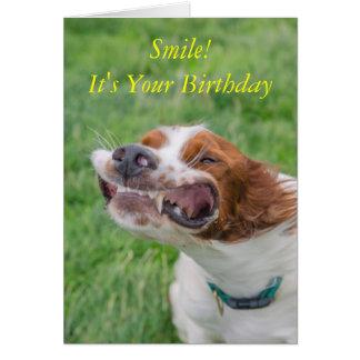 Sourire c'est votre anniversaire carte de vœux