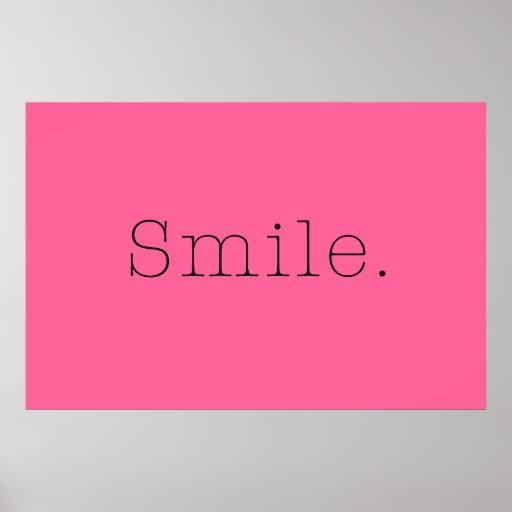 Sourire. Citation légère de sourire de roses indie Posters