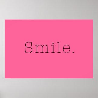 Sourire. Citation légère de sourire de roses Posters