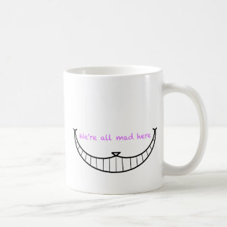 Sourire de chat de Cheshire Mug Blanc