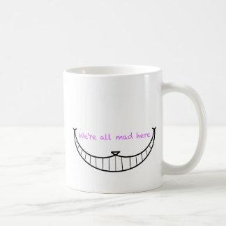 Sourire de chat de Cheshire Mug Blanc