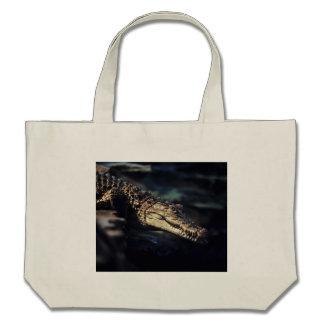 Sourire de crocodile sac en toile