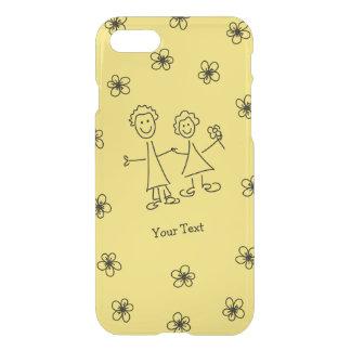 Sourire de pair amants dessinant le coque iphone