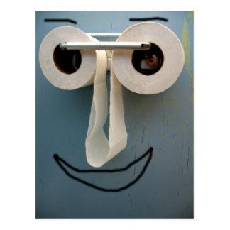sourire de salle de bains carte postale