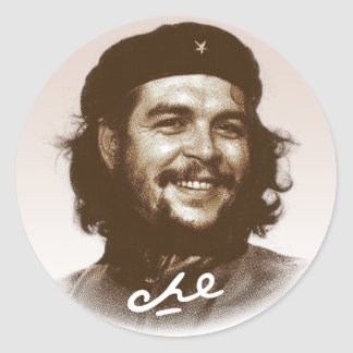 Sourire d'Ernesto Che Guevara Sticker Rond