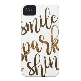 Sourire, étincelle, éclat coque iPhone 4 Case-Mate