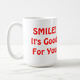 SOURIRE ! Il est bon pour vous. Rouge Mug