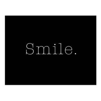 Sourire. Modèle noir et blanc de citation de Carte Postale
