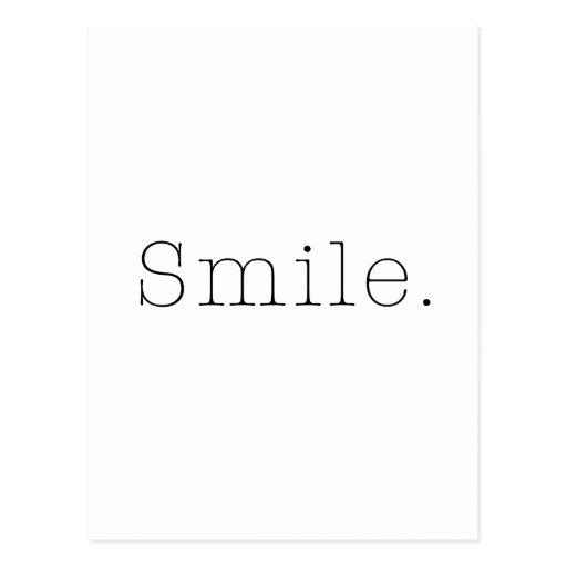 Sourire. Modèle noir et blanc de citation de Cartes Postales