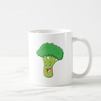 Sourire végétal de brocoli heureux mug