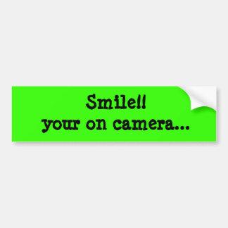 Sourire ! ! votre dessus appareil-photo… Autocolla Autocollant De Voiture