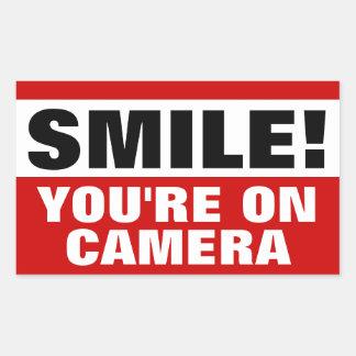 Sourire vous êtes sur des autocollants