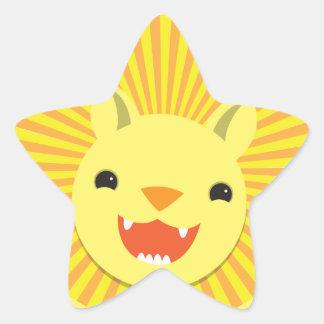 sourires mignons Kawaii de fierté de lion Adhésif