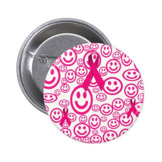 Sourires roses de ruban qui aident badge rond 5 cm