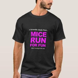 Souris courues pour l'amusement t-shirt