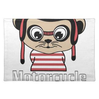 Souris de moto, conception vintage de bande set de table