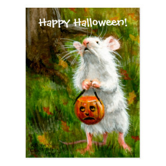 Souris Halloween heureux ! Carte postale