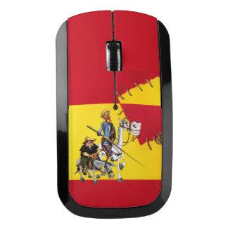 Souris Sans Fil DON QUIJOTE&SANCHO - Espagnol-drapeau de moulin à