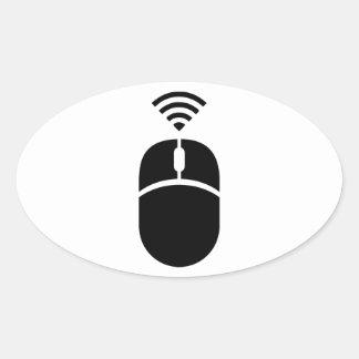 Souris sans fil d'ordinateur sticker ovale