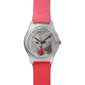 Souris sentante de jouet de chaton britannique de  montres bracelet