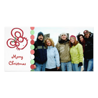 Souris tellement mignonne de Joyeux Noël Photocarte Personnalisée