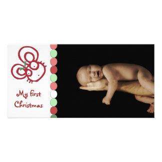 Souris tellement mignonne de Noël mon premier Noël Photocarte
