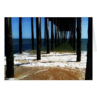 Sous la carte d'océan de pilier
