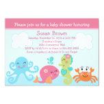 Sous la vie marine/l'invitation baby shower de