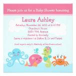 Sous la vie marine/l'invitation baby shower de fil