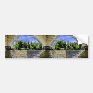 SOUS le pont en plage de Sunnyside sur l'AMUSEMENT Adhésif Pour Voiture