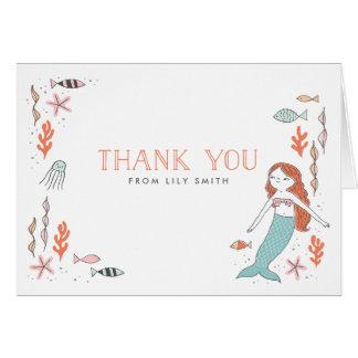 Sous les cartes de Merci de sirène de mer