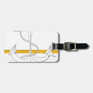 sous lieutenant d'or, fernandes élégants étiquette à bagage