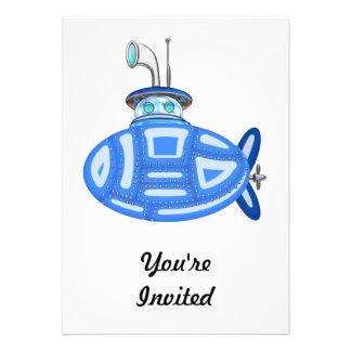 Sous-marin bleu bristols personnalisés