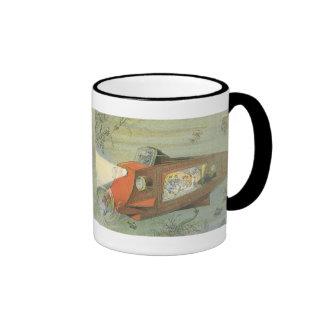 Sous-marin vintage de la science-fiction sous mugs à café