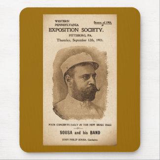 Sousa et sien réunissent 1901 - publicité vintage tapis de souris
