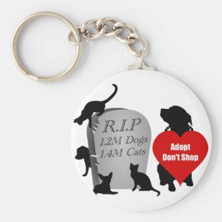 Soutenez Adopt ne font pas des emplettes le Porte-clé Rond