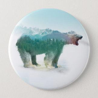 Soutenez la double exposition - ours blanc - badge
