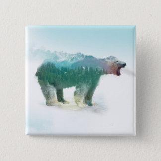 Soutenez la double exposition - ours blanc - badges