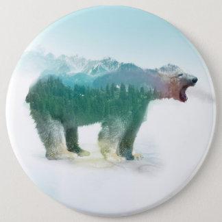 Soutenez la double exposition - ours blanc - pin's