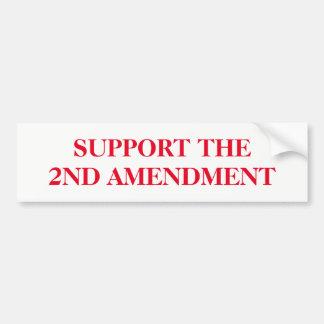 Soutenez le deuxième amendement autocollant de voiture