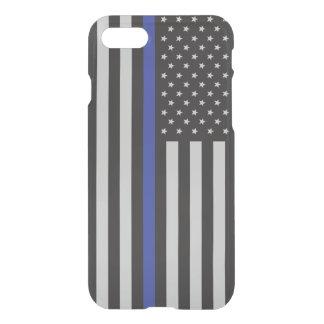 Soutenez le drapeau américain mince de Blue Line Coque iPhone 7