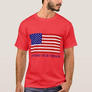 Soutenez le T-shirt de nos de troupes hommes de