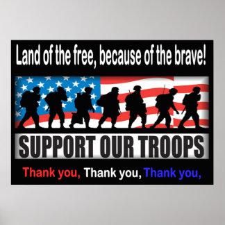 """Soutenez nos troupes 24,00"""" X 33,60"""" ou moins Posters"""