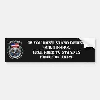 Soutenez nos troupes autocollant de voiture