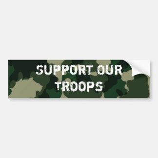 Soutenez nos troupes autocollant pour voiture