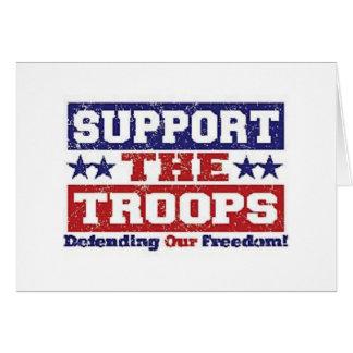 Soutenez nos troupes carte de vœux