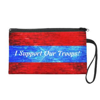 Soutenez notre bracelet de troupes sac à main avec dragonne