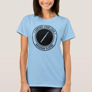 Soutenez votre joueur local de basson t-shirt